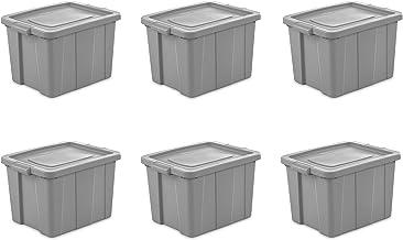 Sterilite 16786A06 Storage Tote, 18 Gallon, Cement Lid and Base