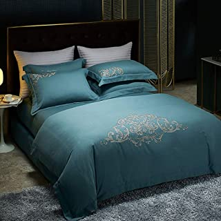 100% Cotton Super Comfortable Bed Sheet Set 4 Piece Set Luxury Bedding Anti-wrinkle Non-fading Non-deformable 10.29 (Color...