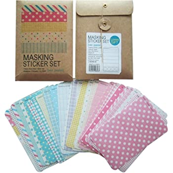 Allydrew Colorful Masking Sticker Set, Pastel