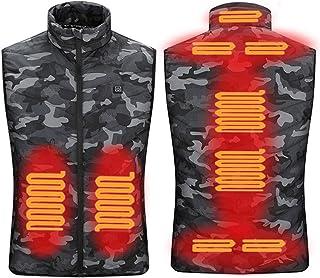 QY-Youth 9 posti Gilet riscaldato Uomo Donna USB Giacca riscaldata Giacca riscaldante Abbigliamento Termico Gilet da Cacci...
