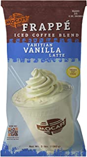 MOCAFE Frappe Tahitian Vanilla Latte Ice Blended Coffee, 3-Pound Bag Instant Frappe Mix, Coffee House Style Blended Drink Used in Coffee Shops