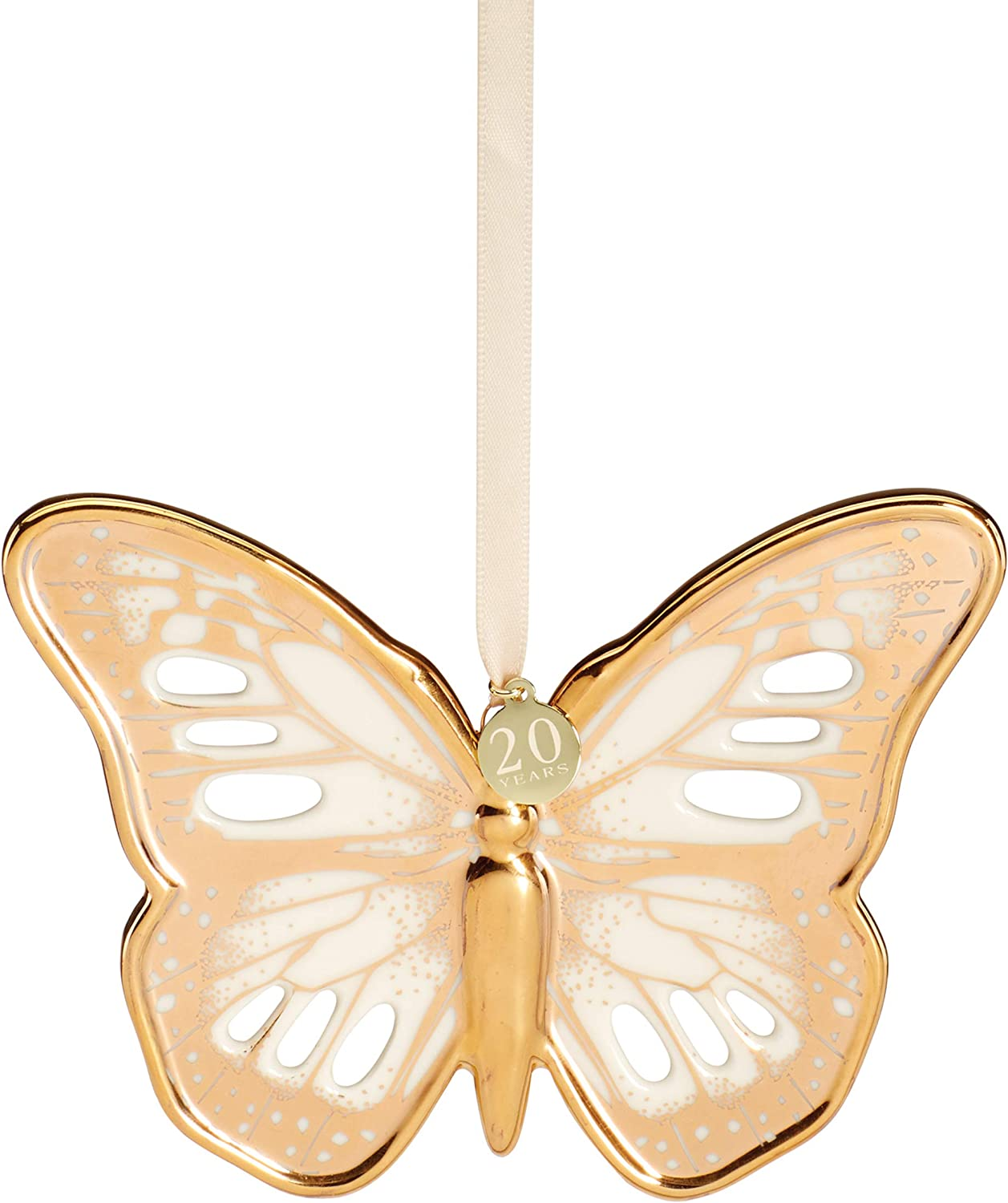 Lenox Meadow Portland Mall Gold Butterfly Multi Ornament 0.60 Online limited product LB