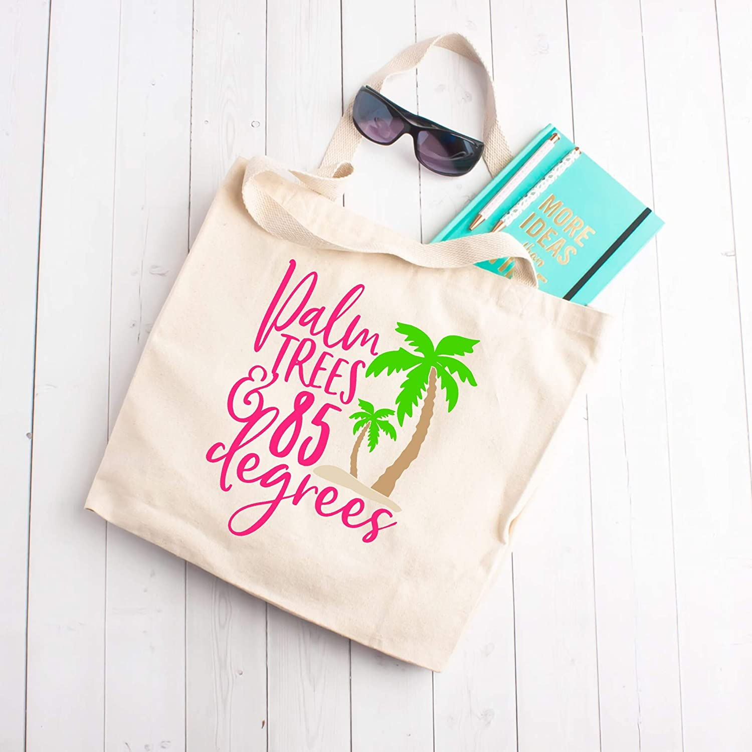 Palm Trees Free shipping on posting reviews 85 degrees Purchase Tote Beach Bag