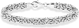 925 Sterling Silver Italian Byzantine Bracelet for Women...