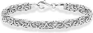 925 Sterling Silver Italian Byzantine Bracelet for Women 6.5, 7, 7.25, 7.5, 8 Inch Handmade in Italy