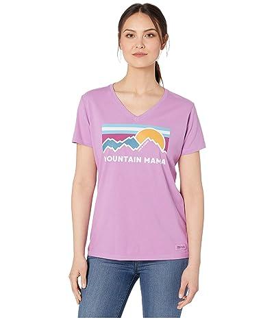 Life is Good Mountain Mama Crushertm Vee Tee (Happy Grape) Women