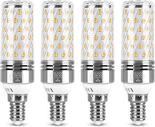 Vicloon Bombilla LED E14, E14 LED Calido 12W Equivalente Lámpara Halógena De 100W, Blanco Cálido 3000K, 1400LM, Angulo de haz de 360, Bombilla LED E14 LED Maíz, No Regulable, AC100-240V, 4 Unidades
