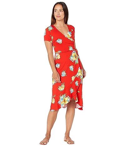 LAUREN Ralph Lauren Petite Floral Stretch Jersey Dress