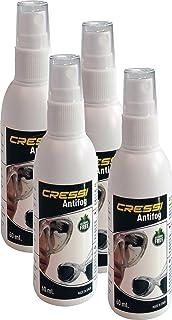 Cressi Anti-Fog 60Ml-4 Pack Antivaho Spray para Máscara de Buceo/Gafas de Natación, Unisex-Adult, Trasparente