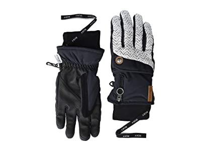 Roxy Nymeria Snow Gloves (True Black) Ski Gloves