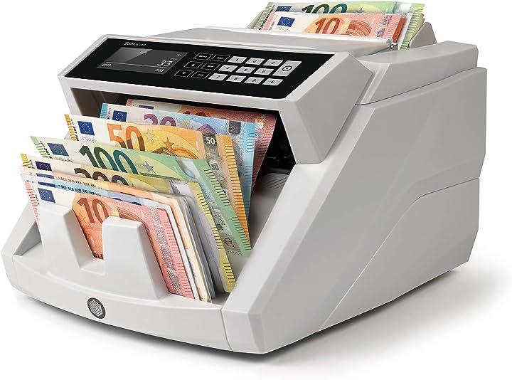 Contabanconote per banconote miste euro con rilevamento della contraffazione in 7 punti safescan 2465-s 112-0540