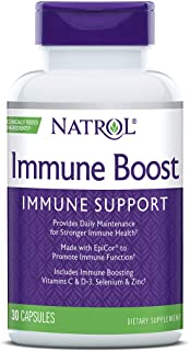 Natrol Immune Boost Capsules, Immune Support, Made with EpiCor Clinically Tested, Includes Vitamins C, D3, Selenium and Zi...