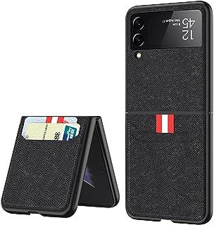 جراب لهاتف Samsung Galaxy Z Flip 3 جراب حامل للبطاقات متوافق مع هاتف Galaxy Z Flip 3 (أسود)