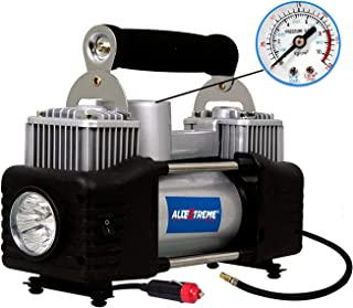 AllExtreme AE-8304Z Typhoon Double Cylinder Tyre Inflator Portable Heavy Duty Air Compressor with Cigratte Lighter Plug fo...