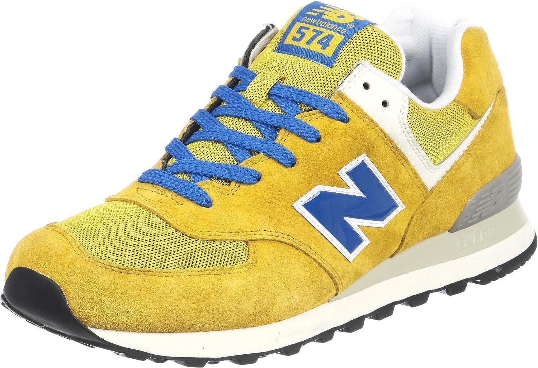 New Balance ML574 D 331251-60 Sneaker uomo, Yellow/Blue, 45.5 ...