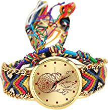 Women's Native Handmade Vintage Casual Quartz Stainless Steel Dream Catcher Friendship Watches Gift ODGear Clearance