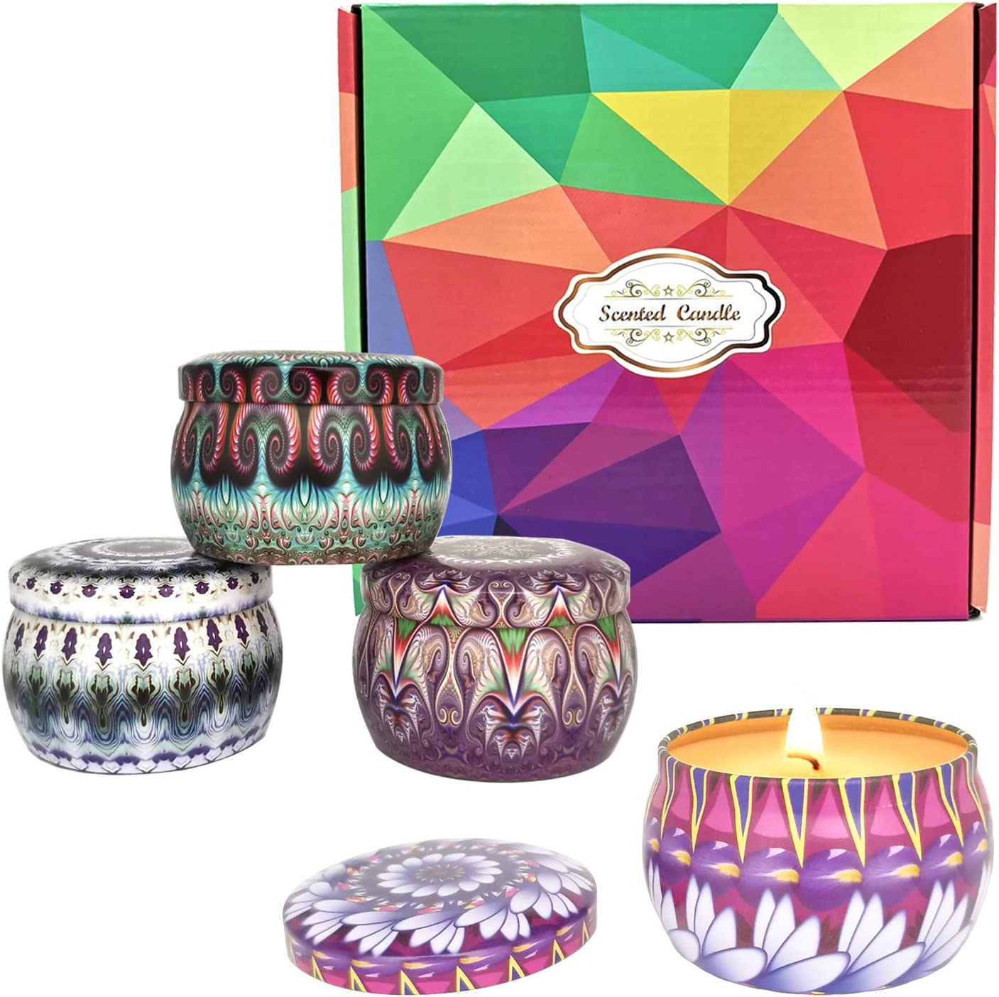 Scented Candles Gift Set Large discharge sale for Women Cand 4.4 oz Aromatherapy Inexpensive 4 x