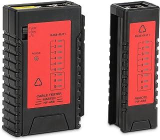 Incutex Tester línea Red Tester Cables RJ45 RJ11 localizador Cables Wire Tracker, Rojo-Negro