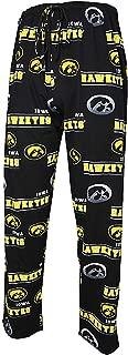 College Concepts NCAA Iowa Hawkeyes Mens Black Fusion Pajama Pants