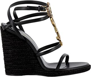 SAINT LAURENT Luxury Fashion Womens 5789060MUDD1000 Black Wedges | Fall Winter 19