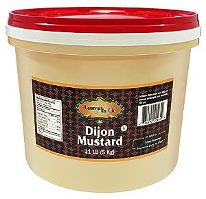 Laurent Du Clos Dijon Mustard (Foodservice) (Pail), 11 Pound