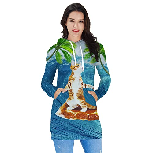 29074bb088524 Ahegao Women's Hoodie Dress Ugly Christmas Sweater Tunic Pullover 3D  Printed Casual Long Sleeve Girls Sweatshirts