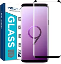 Tech Armor 3D Curved HD Clear Ballistic Glass Screen Protector for Samsung Galaxy S9, CASE-Friendly, (Black) [1-Pack]