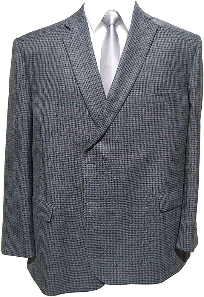 Jean-Paul Germain 54 Long Portly Big and Tall Navy Check Sport Jacket