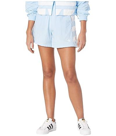 adidas Originals Large Logo Shorts (Clear Sky/White) Women