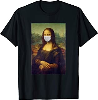 Mona Lisa 2020 Quarantine Isolation Social Distancing T-Shirt