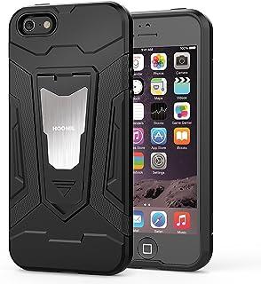 1dc072dc38e HOOMIL Funda iPhone SE,Funda iPhone 5S Negro Armor Funda para Apple iPhone  SE/