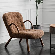 Designer Luxury Lazy Sofa, Single Imitation Cashmere Living Room Lounge Sofa Modern Minimalist Designer Single Chair,Brown