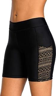 BeautyIn Women's Boardshort Swim Bottom High Waisted Tankini Swimwear Shorts