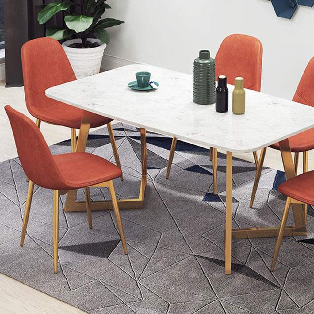 LYN Tabouret de Bar, Chaises de Salle à Manger Chaises en Cuir de Cuisine avec Pieds en métal Robuste Ensemble de Salle à Manger Salon (Color : A) B