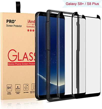 [2-PACK] Galaxy S8 Plus Screen Protector Glass [Easy Installation Tray]