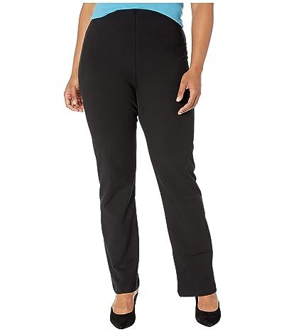 Lysse Plus Size Tara Bootcut Cotton Leggings (Black) Women
