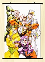Home Decor Anime JoJo's Bizarre Adventure Wall Scroll Poster Fabric Painting Key Roles 23.6 X 35.4 Inches -18