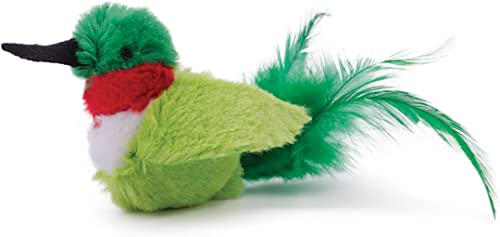 OurPets Play-N-Squeak Real Birds Buzz Off Interactive Cat Toy, Model:1010011959