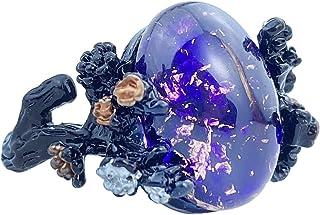 EZUY GNAY موضة الرجعية القوطية خاتم البرقوق زهرة زهرة خليط معدني مجوهرات هدية للنساء مقاس 7-10