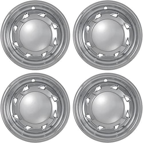 2021 15 outlet sale inch Hubcap Wheel Skins for 1994-2004 Chevrolet Pickup -(Set of 4) Wheel Covers- Car Accessories for 15inch Chrome high quality Wheels- Auto Tire Replacement Exterior Cap Cover sale