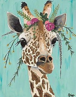 DIY Animals Giraffe Diamond Painting Animals, Square Full Drill Diamond Painting Kit Animals, 5D Diamond Painting Animal, 5D Diamond Painting kit,Paint by Number Kit Animals (15.8X19.7 INCH)