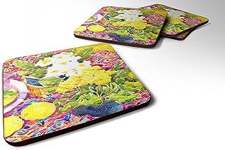 "Caroline's Treasures 6062FC Flower-Primroses Foam Coasters (Set of 4), 3.5"" H x 3.5"" W, Multicolor"