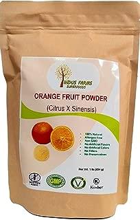 100% Natural Orange Fruit Powder, 1 LB, Eco-friendly Resealable pouch, No Artificial Flavors/Preservatives/Fillers, Halal, Kosher, Vegan-Friendly, Non-GMO