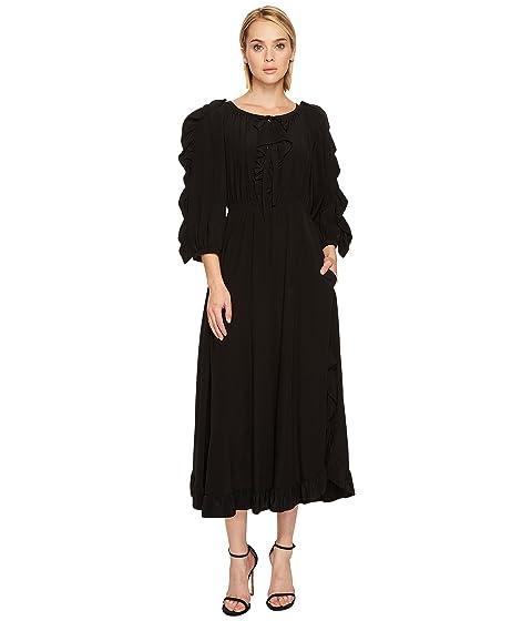 Sonia Rykiel Crepe De Chine & Volants Dress