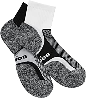 Bonds Men's Ultimate Comfort Quarter Crew Socks (2 Pairs)