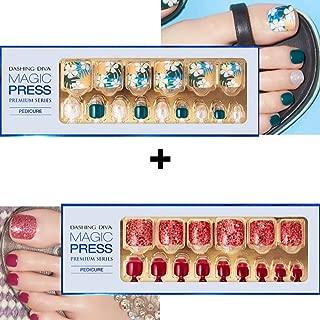[DASHING DIVA - Toes]Magic Press Super Slim Fit-Gel Pedicure(2 Different Designs 24strips+24strips) HA (01.MPR174 +)