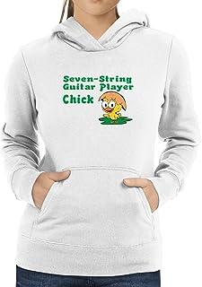 Eddany Seven String Guitar Player Chick Women Hoodie