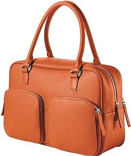 CHI CHI FAN City Bag   Damen Echt-Leder Handtasche aus genarbtem Rindsleder von Hamburger Designer-Label   Top Qualität, Design und maximale Funktion   Für Business und Freizeit