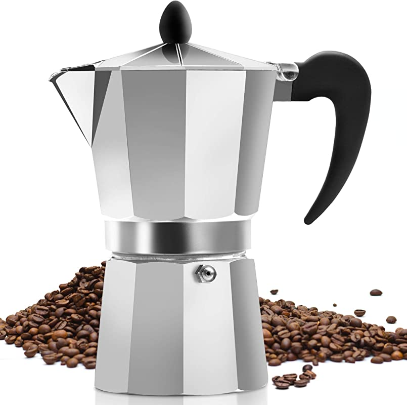 Classic Stovetop Espresso Maker For Great Flavored Strong Espresso Classic Italian Style 5 Espresso Cup Moka Pot Makes Delicious Coffee Easy To Operate Quick Cleanup Pot By Zulay Kitchen
