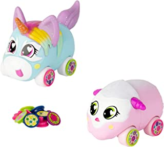 Tomy Ritzy Rollerz Toy Cars for Girls with Surprise Charms, Sofia Serv and Tori TaDa Besties (2 Pack)